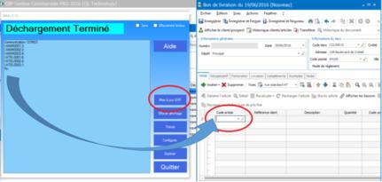 Envoi de données code-barres vers un formulaire EBP