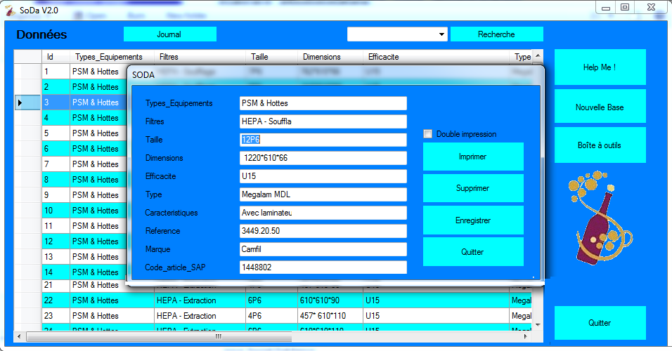 logiciel de gestion de données